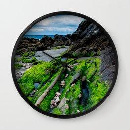 Green beach Wall Clock