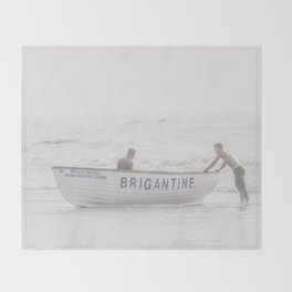 Brigantine Lifeboat Throw Blanket