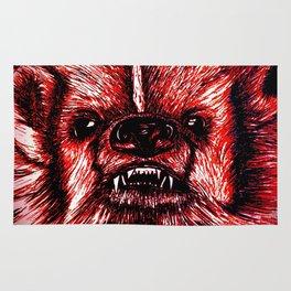 Badger Bad Red Rug