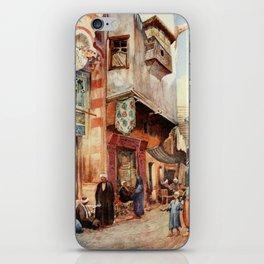 Tyrwhitt, Walter (1859-1932) - Cairo, Jerusalem, and Damascus 1912, A street scene in Cairo iPhone Skin
