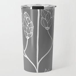 Leaf-like Sumac in Grey Travel Mug