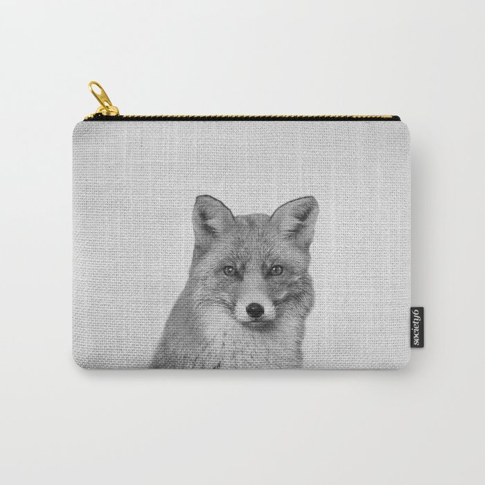 Fox - Black & White Carry-All Pouch