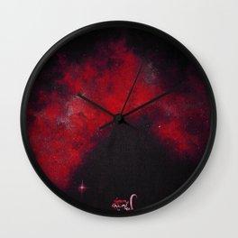 Red galaxy Wall Clock