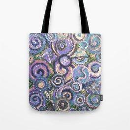Textured Circles Tote Bag