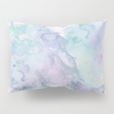 Pastel modern purple lavender hand painted watercolor wash Pillow Sham
