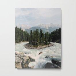 Sunwapta Falls, Jasper National Park, Alberta, Canada Metal Print