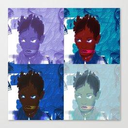 4 faces Canvas Print