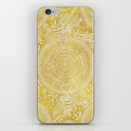 Medallion Pattern in Mustard and Cream iPhone Skin