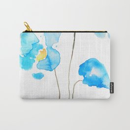 abstract Himalayan poppy flower watercolor Carry-All Pouch