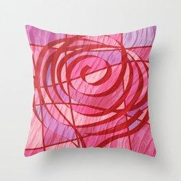 Rosa de Recortes Throw Pillow