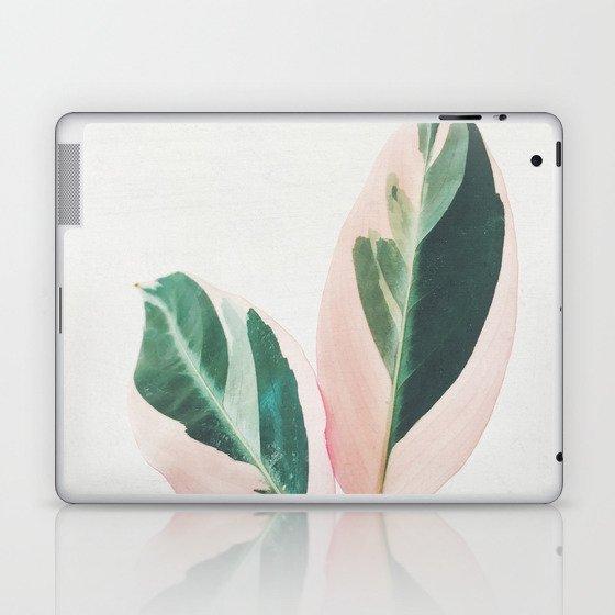 Pink Leaves I Laptop & iPad Skin