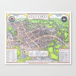 OXFORD university map ENGLAND dorm decor Canvas Print