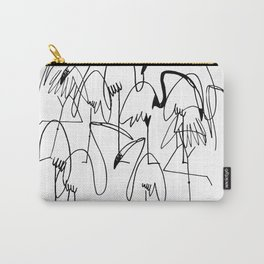 handrawn flamingo Carry-All Pouch