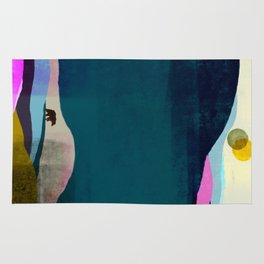 Bear and Two Moons Rug