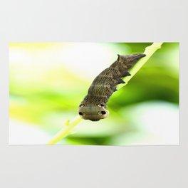 Caterpillar On A Green Plant #decor #society6 Rug