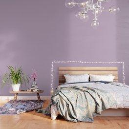 Simple Solid Color Wisteria Purple All Over Print Wallpaper
