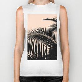 Palms on Pale Pink Biker Tank
