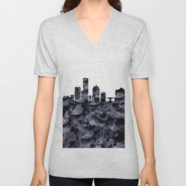 Milwaukee Skyline Wisconsin Unisex V-Neck