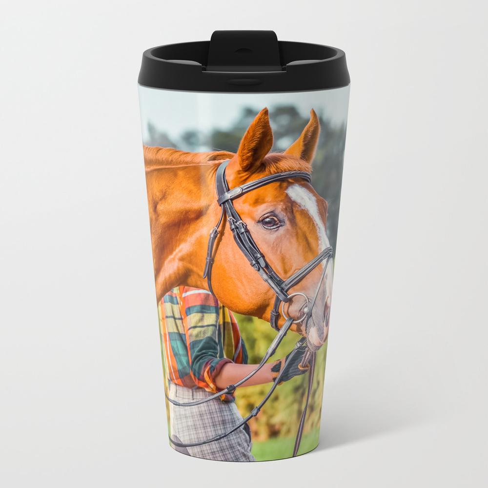 Beautiful Horse Closeup Travel Cup TRM9118867
