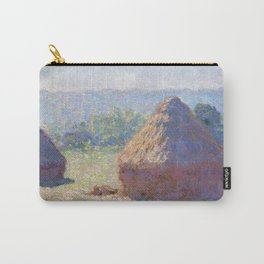 1891-Claude Monet-Haystacks, end of Summer-60 x 100 Carry-All Pouch
