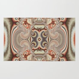 Abstract art with tribal patterns in autumn trendy colors Rug