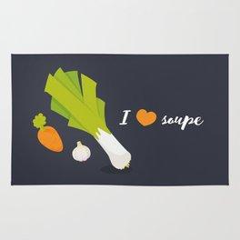 I love soupe Rug