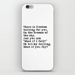 What if you fly? Vintage typewritten iPhone Skin