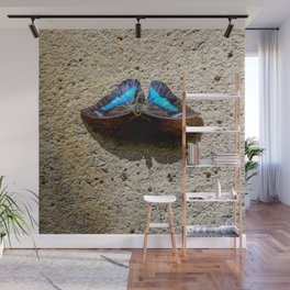 Blue Morpho Butterfly by Teresa Thompson Wall Mural