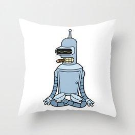 Meditating Bender Throw Pillow