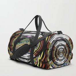 """Beez Lee Art : Love Leads Through Circle Darkness"" Duffle Bag"