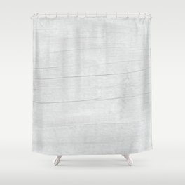 Gray Weathered Wood Shower Curtain