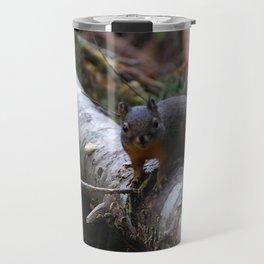 Douglas squirrel stands its ground! Travel Mug
