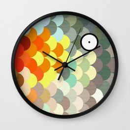 Rainbow Scales  Wall Clock