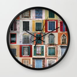 Twenty Five Windows Wall Clock