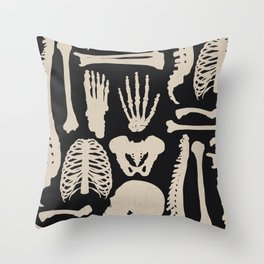 Osteology Throw Pillow