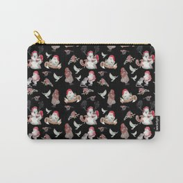 Black gnome pattern - Christmas Carry-All Pouch