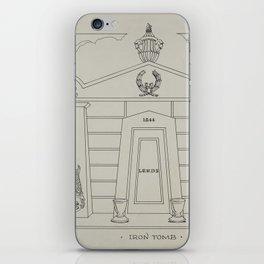 Iron Tomb Thomas Byrne Vintage Architecture iPhone Skin