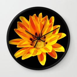 Floral Beauty in Close Up Wall Clock