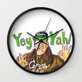 Customgrow420 YEY-YAH! Oil Pastel & Acrylic Wall Clock