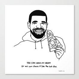 Drake eating pizza Canvas Print