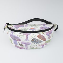 Wood Blewits and Pine Pattern Fanny Pack