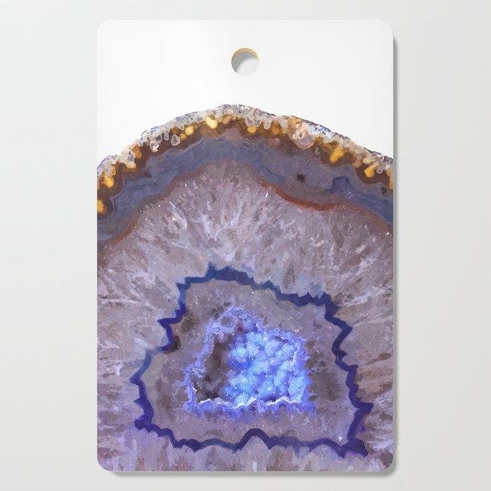 Druze dark blue agate Cutting Board