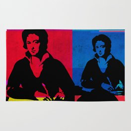 PERCY BYSSHE SHELLEY - ENGLISH POET, 4-UP POP ART COLLAGE Rug