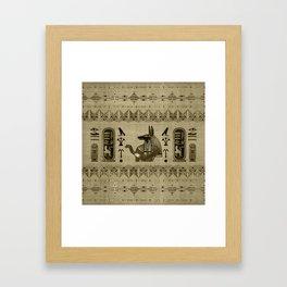 Egyptian Anubis Ornament Framed Art Print