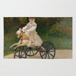 "Claude Monet ""Jean Monet (1867–1913) on His Hobby Horse"" Rug"
