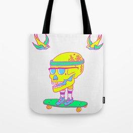 Skull on a skateboard Tote Bag
