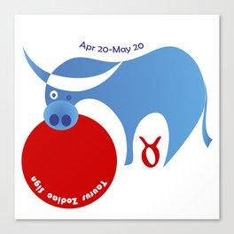 Taurus -  Bull Canvas Print