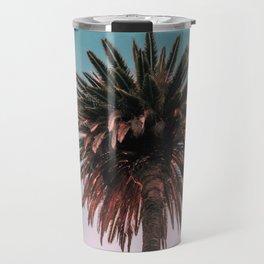 Tropical, Palm, Nature, Pink, Scandinavian, Minimal, Modern, Wall art Travel Mug