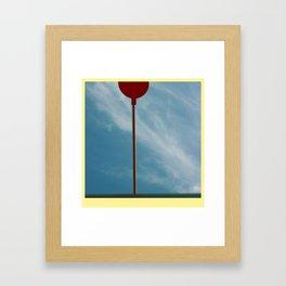 space spoon Framed Art Print