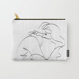 Couple continuous line draw Carry-All Pouch